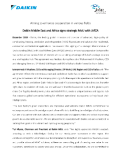 Daikin - MoU with Jafza EN